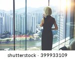 back view of young entrepreneur ...   Shutterstock . vector #399933109