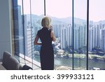 back view of young successful... | Shutterstock . vector #399933121