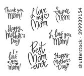 quote i love you mom ... | Shutterstock .eps vector #399939154