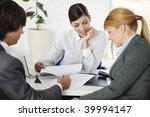 business people in deep... | Shutterstock . vector #39994147