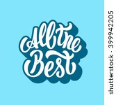 all the best lettering text | Shutterstock .eps vector #399942205