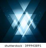 vector abstract light... | Shutterstock .eps vector #399943891