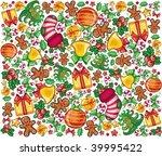christmas pattern | Shutterstock .eps vector #39995422