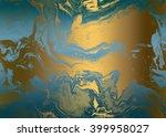 blue golden abstract  ... | Shutterstock . vector #399958027