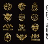set of soccer football logo... | Shutterstock .eps vector #399958999