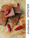 spice red chilli peppers and... | Shutterstock . vector #399967309