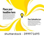 abstract swirl background... | Shutterstock .eps vector #399971695