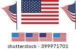 usa flag  america flag | Shutterstock .eps vector #399971701