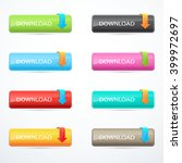 set of download buttons | Shutterstock .eps vector #399972697