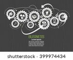 business connection | Shutterstock .eps vector #399974434