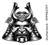 a japanese samurai mask and... | Shutterstock .eps vector #399982597