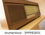 old retro radio with speaker | Shutterstock . vector #399982831