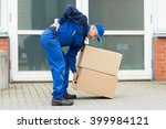 delivery man suffering from... | Shutterstock . vector #399984121