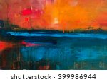 abstract oil painting... | Shutterstock . vector #399986944