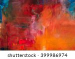 abstract oil painting... | Shutterstock . vector #399986974