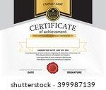 elegant certificate diploma