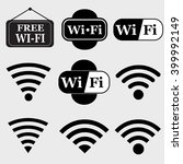 wifi  icon set.wireless vector | Shutterstock .eps vector #399992149