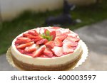 strawberry cake. | Shutterstock . vector #400003597