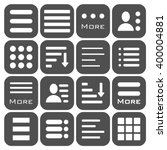 hamburger menu icons set. bar... | Shutterstock . vector #400004881
