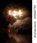 ferry meadows firework display. ... | Shutterstock . vector #40000759