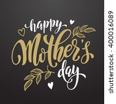 mothers day vector greeting... | Shutterstock .eps vector #400016089