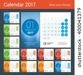 Desk Calendar For 2017 Year....