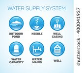 water supply system. | Shutterstock .eps vector #400041937