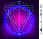 sacred geometry forms on space... | Shutterstock .eps vector #400048105
