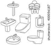 vector set of sanitary ware | Shutterstock .eps vector #400056187