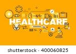 thin line flat design banner... | Shutterstock .eps vector #400060825