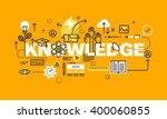 thin line flat design banner... | Shutterstock .eps vector #400060855