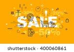 thin line flat design banner...   Shutterstock .eps vector #400060861