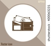 vector wallet for cards and... | Shutterstock .eps vector #400063231