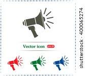 vector icon megaphone | Shutterstock .eps vector #400065274