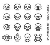 skull icon set.line vector. | Shutterstock .eps vector #400073569