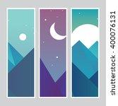 mountain landscape vector | Shutterstock .eps vector #400076131