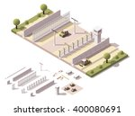 vector isometric icon or... | Shutterstock .eps vector #400080691