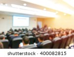 blur of business conference and ... | Shutterstock . vector #400082815