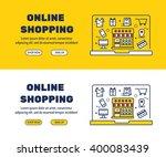 flat line icons design of... | Shutterstock .eps vector #400083439