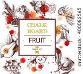 fruits   blueberries ... | Shutterstock .eps vector #400083565