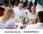 positive american middle class...   Shutterstock . vector #400089844