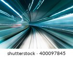 motion blur of train moving... | Shutterstock . vector #400097845