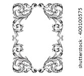 vintage baroque frame scroll... | Shutterstock .eps vector #400100575
