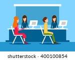 bank office interior client man ...   Shutterstock .eps vector #400100854