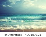 beach in sunset time  tilt... | Shutterstock . vector #400107121
