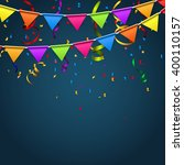 party background with flags... | Shutterstock . vector #400110157