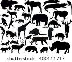 illustration with animals... | Shutterstock .eps vector #400111717