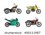 motorcycle icons set in flat...   Shutterstock .eps vector #400111987
