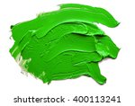 Green  Oil Paint Spot Isolated...