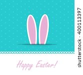happy easter funny background... | Shutterstock . vector #400113397
